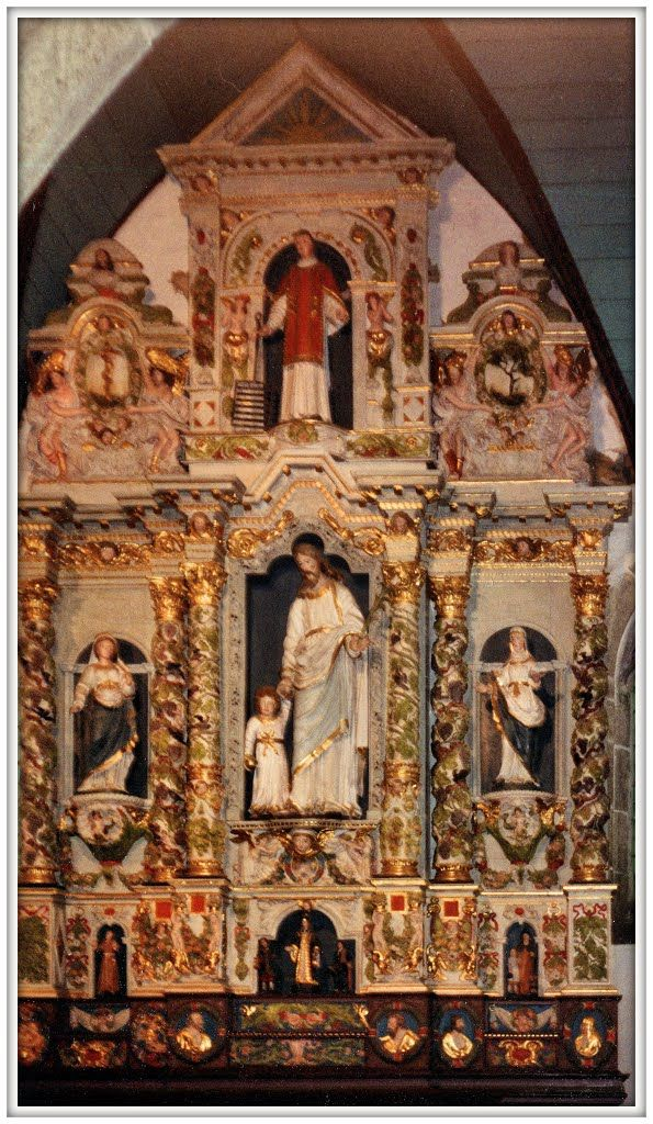 Guimiliau - Recinto parrocchiale - Pala di San Lorenzo Martire (XVI sec.) Bretagna