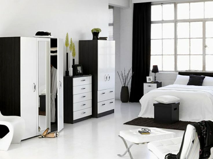 Black And White Bedroom Decor. Delightful Cute Room Decorating ...