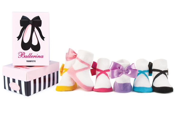 Trumpette Baby Socks Ballerina - Six gorgeous pairs of socks wrapped up in a gift box - perfect as a baby shower gift or something special for your little one!