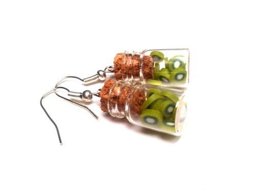 Earrings NUTELLA 2 mini bottle little