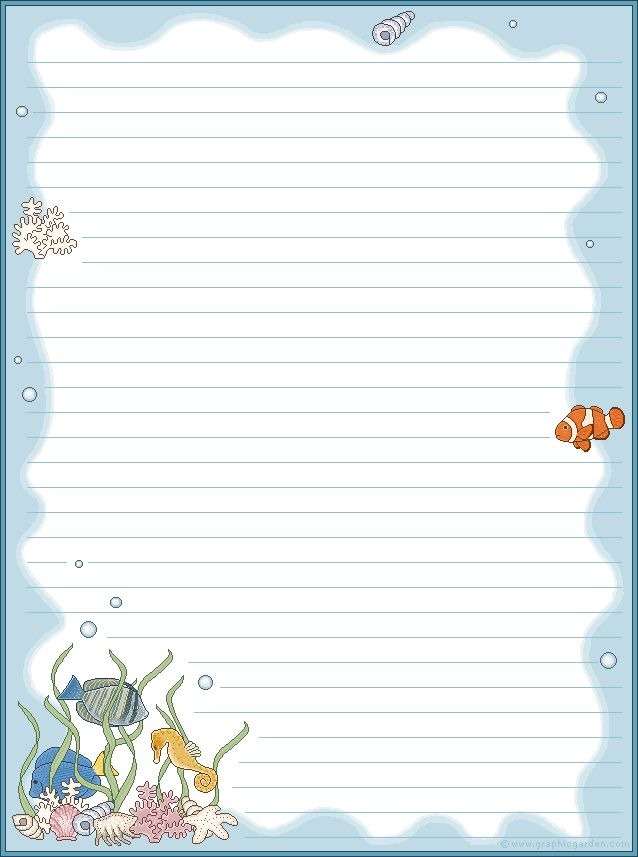 253 best Stationery\/borders for children images on Pinterest - free lined stationery