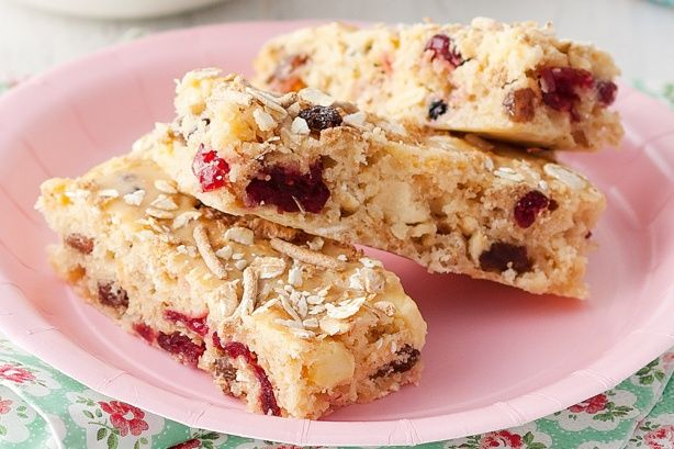 These muesli and fruit slices are a guaranteed lunchbox smash hit!