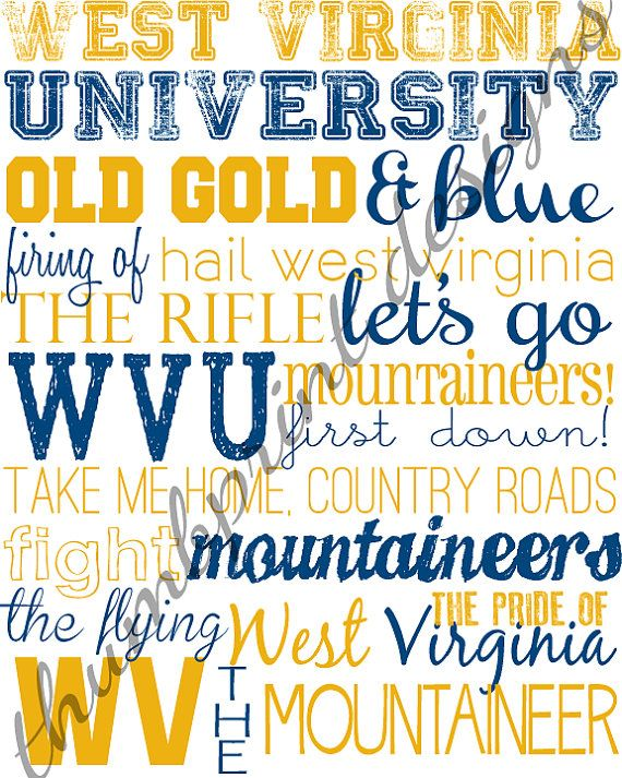 west virginia university subway art 8 x 10 by ThumbprintDesign, $10.00