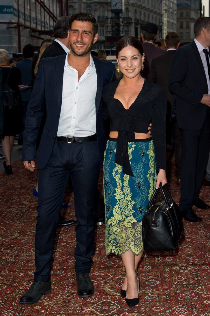 Pin for Later: This Week's Can't-Miss Celebrity Photos  Louise Thompson and boyfriend Alik Alfus got an exclusive preview of Downton Abbey in London.