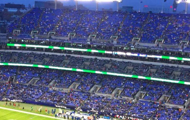 NFL HELL: Indianapolis Colts Take On Baltimore Ravens As Thousands of Seats Remain EMPTY (PHOTOS)