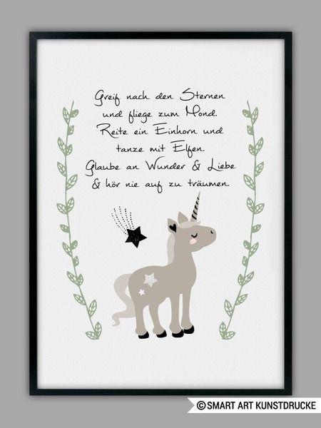 """""""EINHORN""""+Kunstdruck,+Geschenk+von+SMART+ART+Kunstdrucke+®+auf+DaWanda.com"""