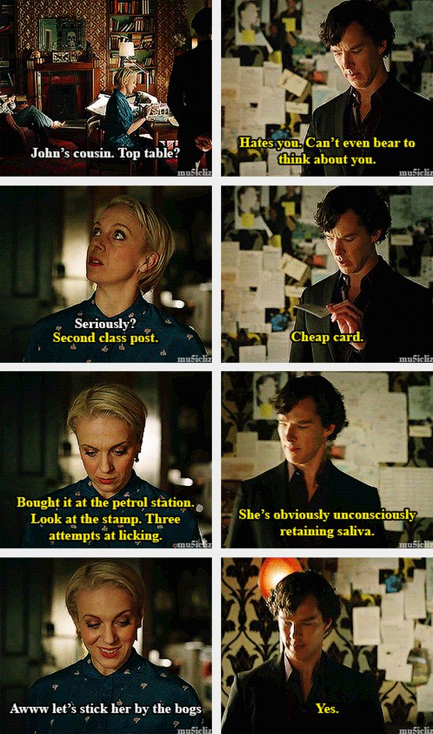 Sherlock and Mary get along so well together - I love that so much.