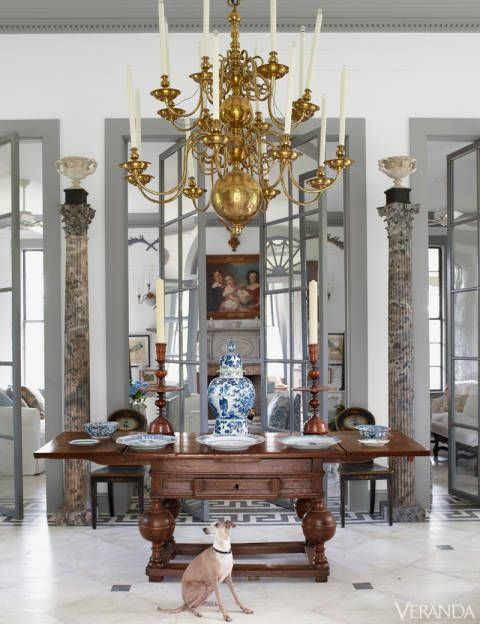 """A self-taught antiques expert and true Southern gentleman, Gatewood, at 92, still has an architectural imagination bubbling over with visions. He calls this structure the Peacock House, but he first built it as a greenhouse with dirt floors. This came about because he'd bought two intriguing Gothic columns at an Atlanta flea market, and they made his mind itch. """"There's not a lot to do around here, so I built a house with them,"""" he says with modesty."""