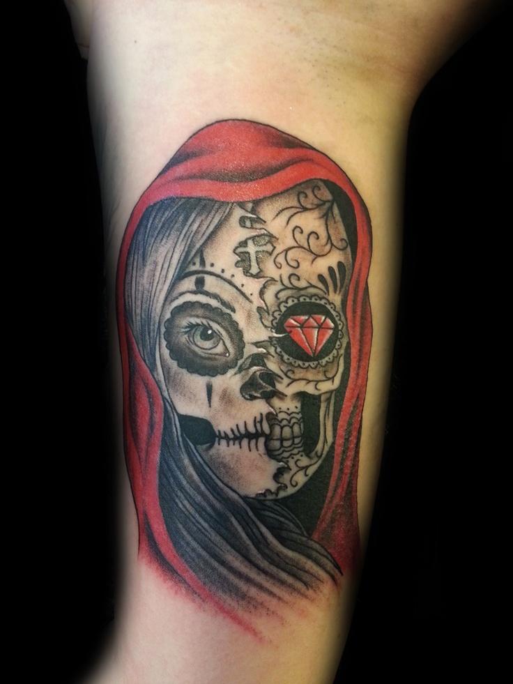 Gallery Good And Evil Skull Tattoos