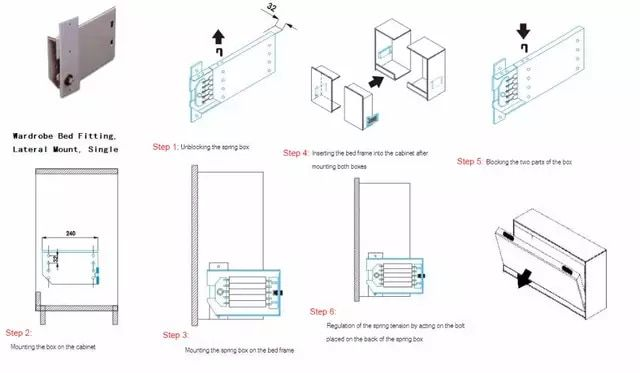 Diy Heavy Duty Murphy Wall Bed Hardware Kit For Both Vertical And Side Wall Mount Fold Down Bed Mechanism Hm1 Murphy Wall Beds Bed Hardware Murphy Bed Hardware
