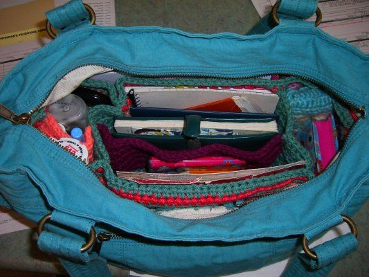 Free Crochet Pattern Purse Organizer : 44 best images about Knitting and Crocheting on Pinterest ...