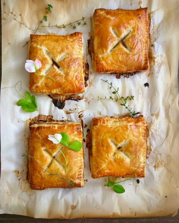 Baking Aussie meat pies on a rainy Sunday afternoon . I'm loving the buttery puff pastry and savory minced meat aromas wafting out of the oven mmmmm.... by pantryno7