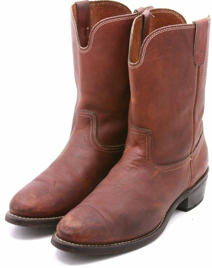Georgia Mens Work Boots Size 13 D Brown Red Leather WELLINGTON USA Boot