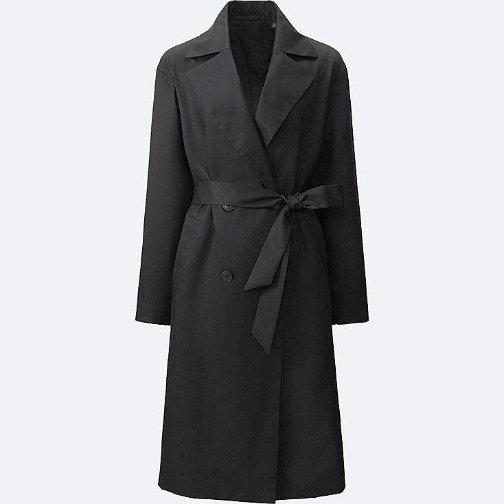 women easy care drape trench coat precis min stil. Black Bedroom Furniture Sets. Home Design Ideas