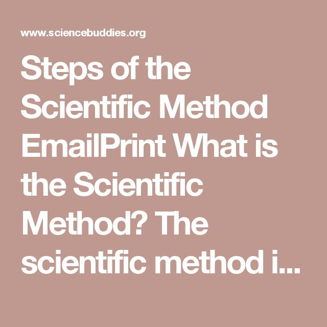 Steps of the Scientific Method EmailPrint What is the Scientific Method?  The scientific method is a process for experimentation that is used to explore observations and answer questions. Does this mean all scientists follow exactly this process? No. Some areas of science can be more easily tested than others. For example, scientists studying how stars change as they age or how dinosaurs digested their food cannot fast-forward a star's life by a million years or run medical exams on feeding…