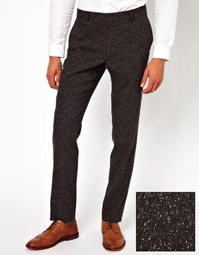 Зауженные брюки в крапинку ASOS