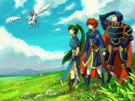 Fire Emblem Blazing Sword - Eliwood, Hector, Lyn, Florina