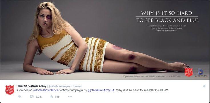 La #robe du buzz dans une campagne contre les violences faites aux femmes #TheDress http://madame.lefigaro.fr/societe/la-robe-du-buzz-utilisee-dans-une-campagne-contre-la-violence-faite-aux-femmes-090315-95271…