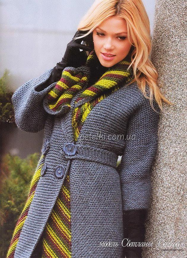 Необычное пальто от Светланы Волкодав. Описание, схемы вязания