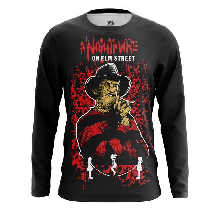 Stunning Mens Longsleeve Nightmare on elm street   – Search tags:  #boysclothes #buylongsleevesformen #longsleevesforboys #longsleevesformenaustralia #longsleevesformencanada #longsleevesformenmerchandise #longsleevesformenuk #malelongsleeve #moviesmerchandise #tvseriesmerchandiseboyslongsleeves Check more at https://idolstore.net/shop/categories/apparels-clothes/boys-longsleeve-nightmare-on-elm-street-collectibles-merchandise/