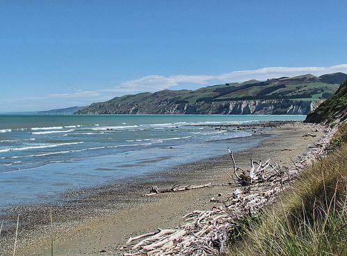 Motunau beach near Amberley, New Zealand