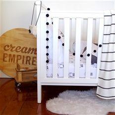 Robot cot sheet // Cream Empire - We are a nursery and kids bed linen brand. #nursery #kids #bed #linen #interior #home #design
