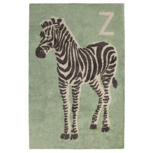 Tapis Zèbre Bleu vert chambre bébé par Toulemonde Bochart - Couleur - Vert, Taille - 110 / 170 cm