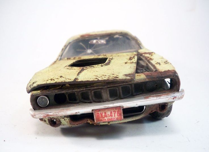 1971 Plymouth Barracuda Pro Built Weathered Barn Find Hemi Custom 1/24 Revell