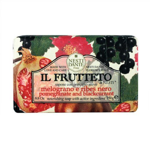 Nesti Dante Il Frutteto Pomegranate and Black Currant Natural Fruit Scented Bar Soap for Bath Hands and Body 250g -- You can find more details by visiting the image link.