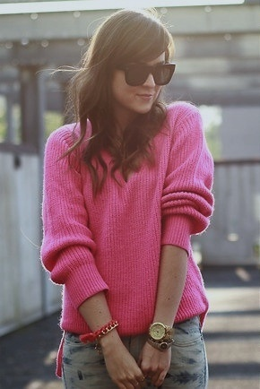 65 best Pink sweater images on Pinterest | Pink sweater, Neon and ...