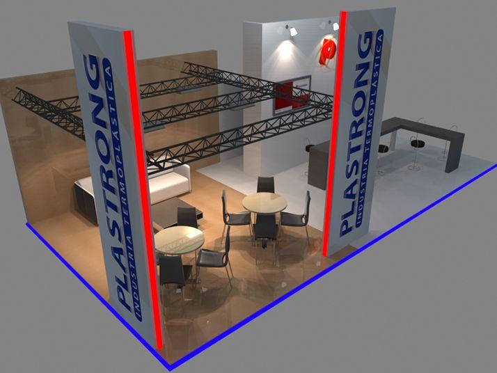 Plastrong Industria Termoplástica Diseño de stand para exposición.