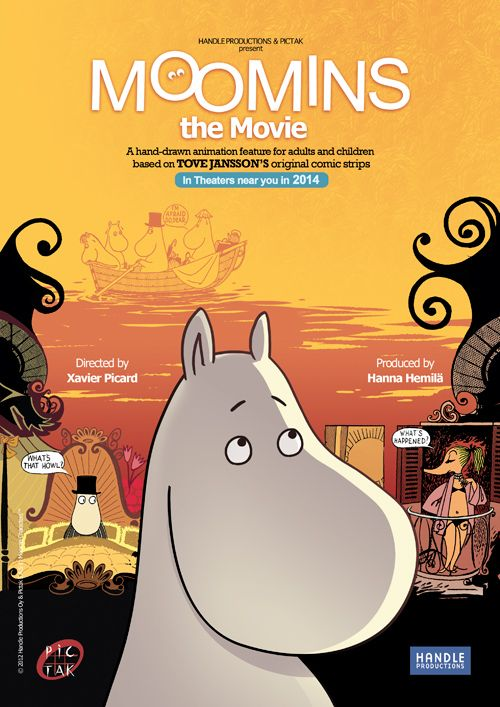 "The new film ""Moomins on the Riviera"" premieres in October 2014."