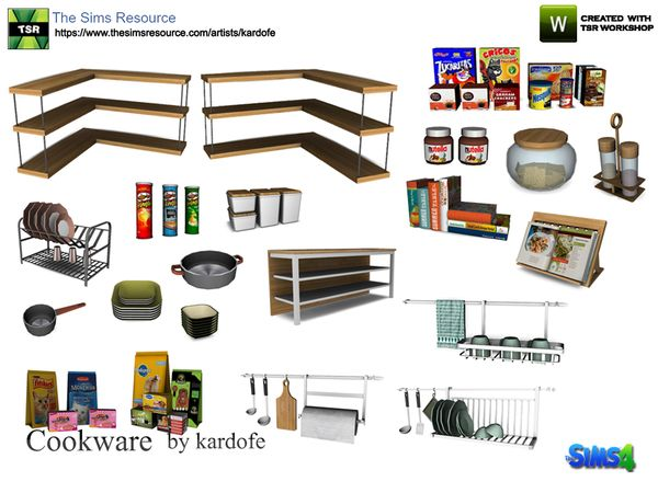 Cookware by kardofe at TSR • Sims 4 Updates