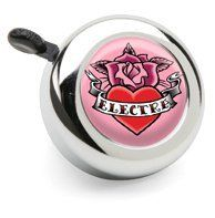 Electra Bicycle Bell (Rose Tattoo) by Electra Bicycle Company. $8.50. Custom Electra Rose Tattoo Bell is the perfect accessory for any bicycle. Fits: Cruisers, Townies, Amsterdams, or other standard bicycle handlebar. Matching sticker set available.. Bell is chrome with pink rose and heart design.. Rose Tattoo Bell