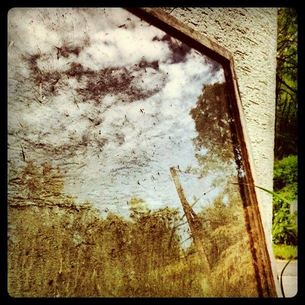 #reflection #window #clouds