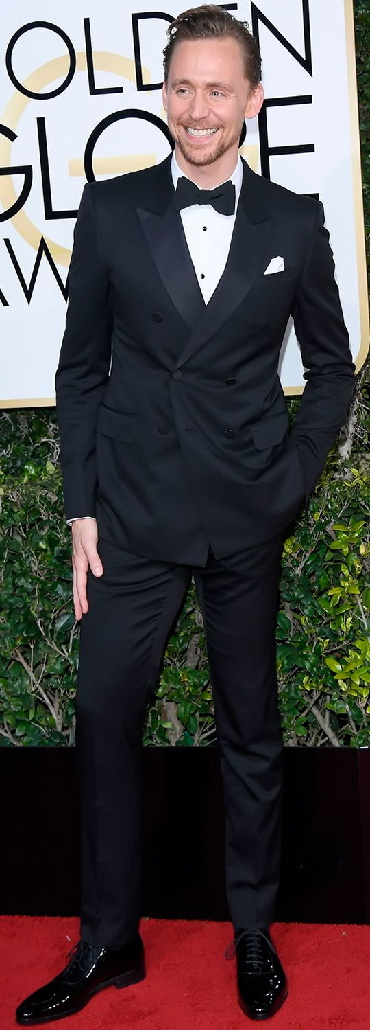 Golden Globes 2017: The Best-Dressed Men. Tom Hiddleston in Gucci. Link: http://www.gq.com/gallery/golden-globes-2017-best-dressed-men#17