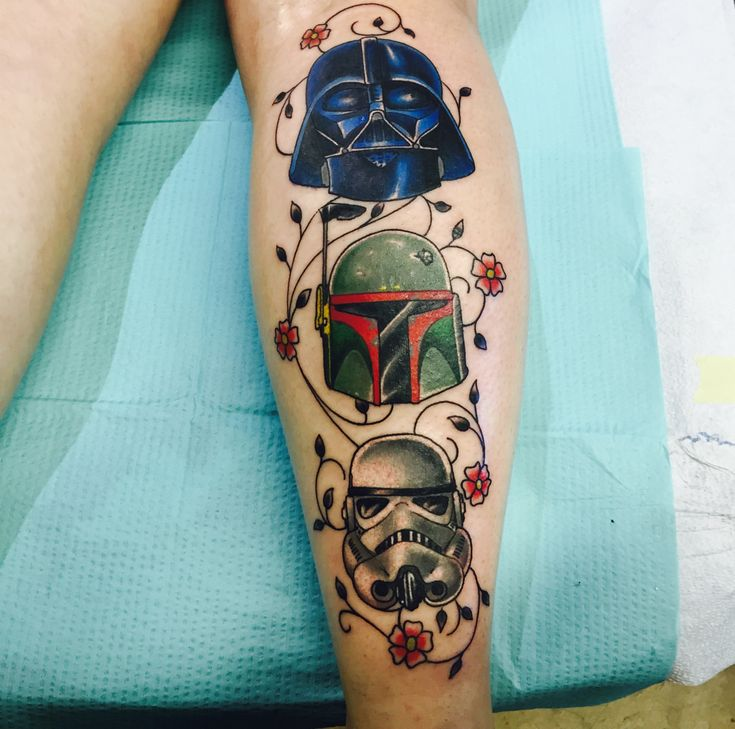 darth vader boba fett and stormtrooper tattoo done by jon o at studio xiii tattoo in cocoa. Black Bedroom Furniture Sets. Home Design Ideas
