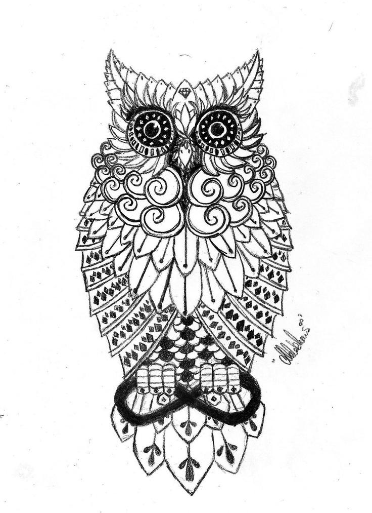 Cool owl drawings - photo#28