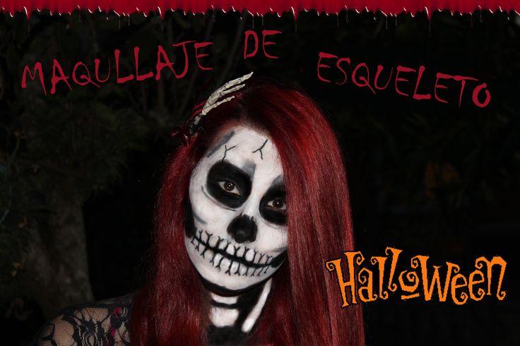 Tutorial paso a paso, maquillaje de esqueleto para halloween  https://www.youtube.com/watch?v=AhW5YSvADb4&list=UUxsD_sI3UioWS5cmmW2flTA