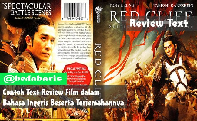 Contoh Text Review Film dalam Bahasa Inggris Beserta Terjemahannya    http://www.belajardasarbahasainggris.com/2017/07/13/contoh-text-review-film-dalam-bahasa-inggris-beserta-terjemahannya/