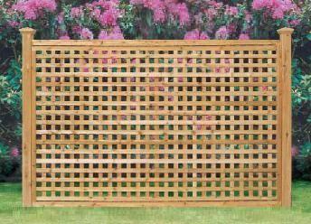 Square Lattice Fence Full Lattice Madison Panel Square