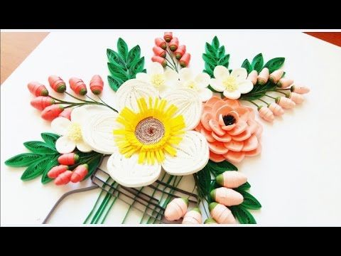 The 53 best quilling tutorials images on pinterest quilling art craft how to make beautiful new design quilling red flower paper art quilling mightylinksfo