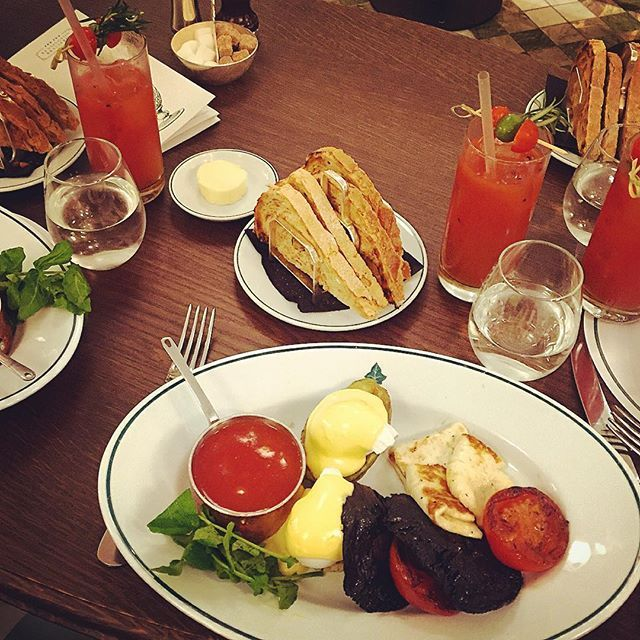Garden Breakfast and Bllody Mary's at The Ivy Brasserie, High Street Kensington
