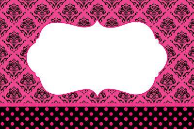 Kit para Festas - Preto e Pink Vintage
