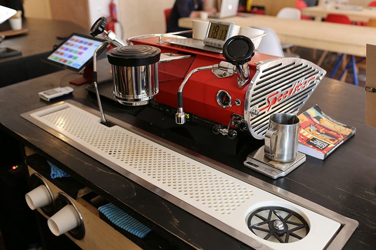 The whole café is a prototype: each bit of the bar design is an attempt at finding a solution to a problem or exploring a new workflow or way of doing something