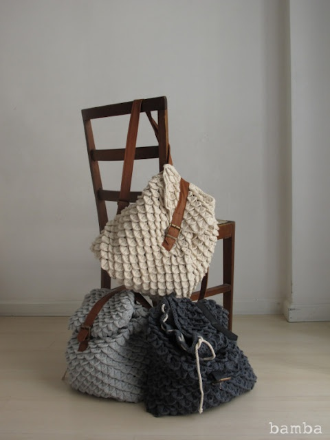 Mochillas trapillo - Crochet Backpack