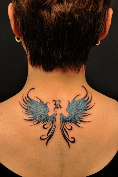 Chronic ink Tattoos, Toronto Tattoo - Something smaller for today. Kevin's wings and initial.