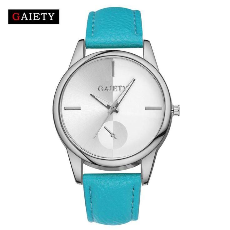 Good Watches GAIETY Famous Brand relogio masculino de luxo de ouro Women Fashion PU Leather Analog Quartz Busniess WristWatch
