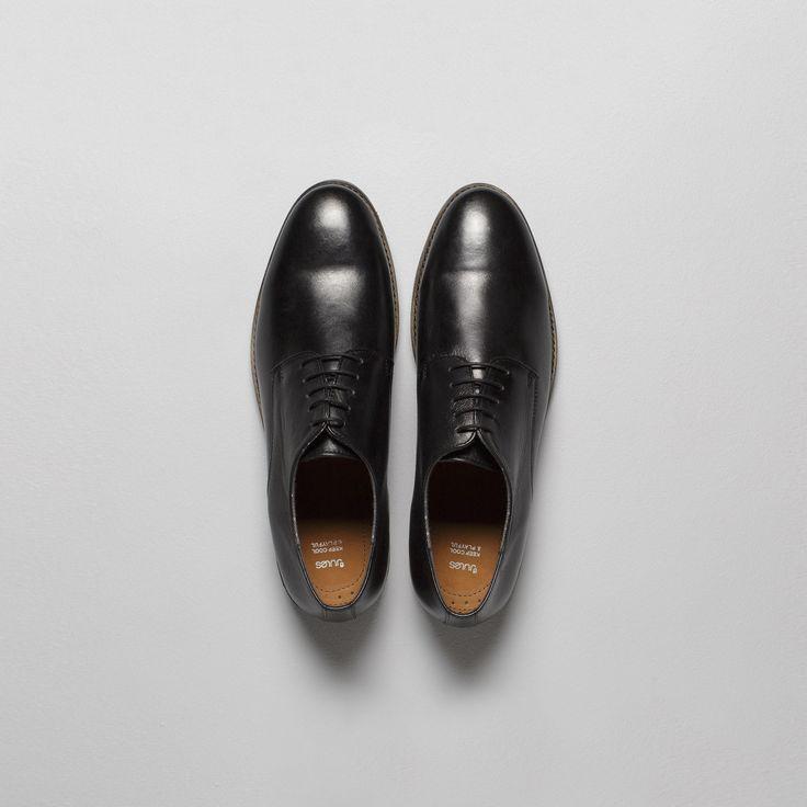 Chaussures urbaines cuir Noir  - Tenue chic pour les fêtes - Homme - Jules.com
