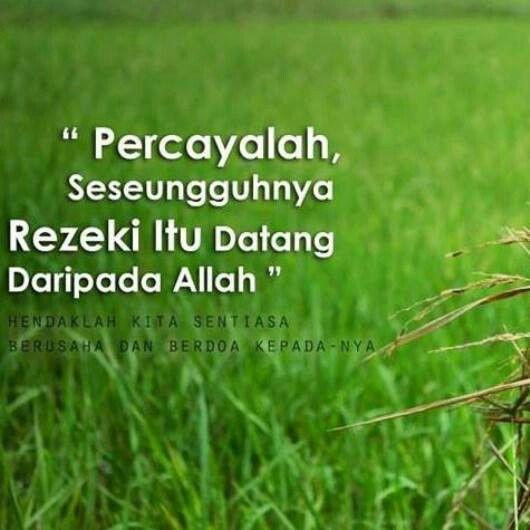 Rezeki dtg dr Allah